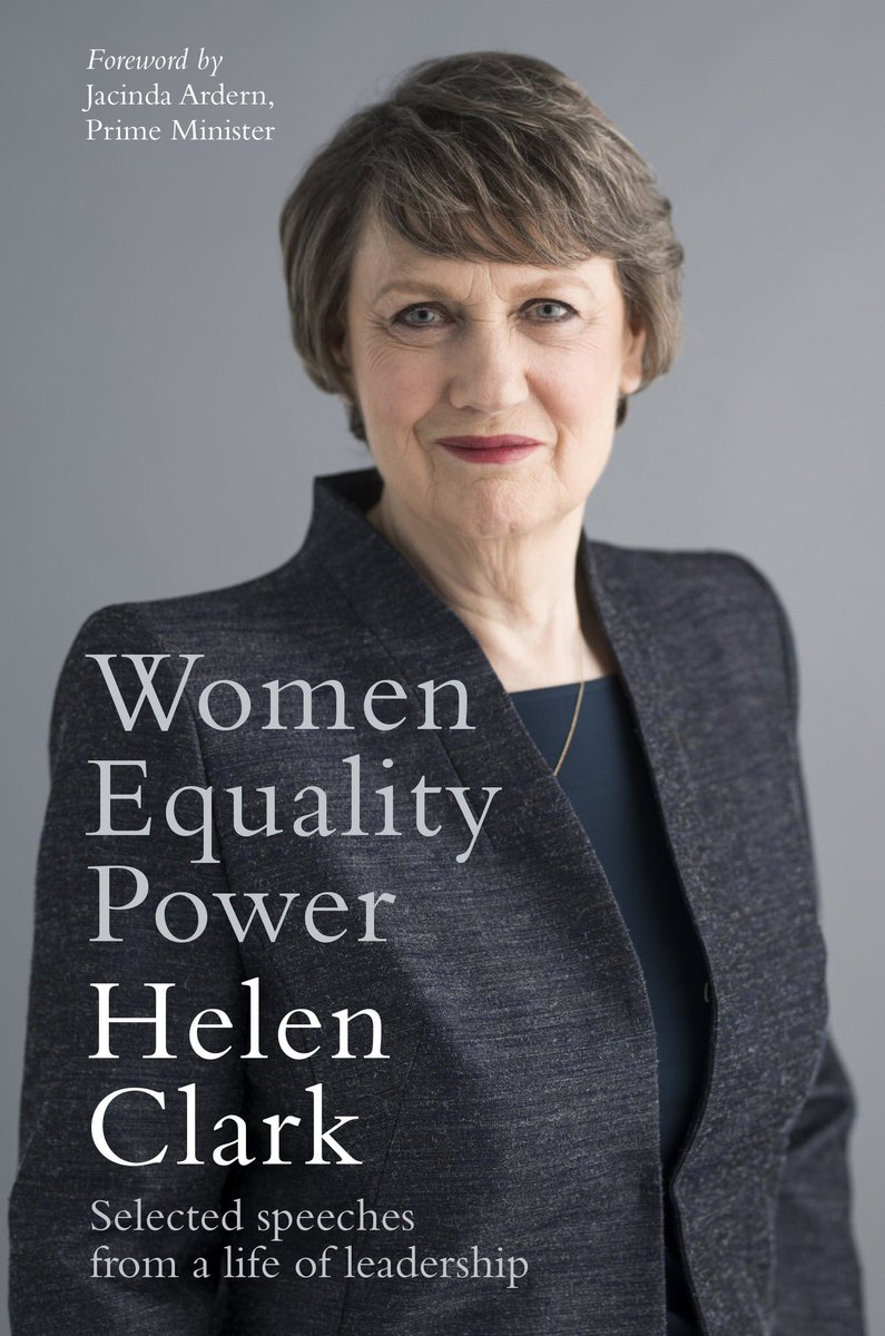 On the #BookLoversDay, I highly recommend &quot;Women, Equality, Power, Selected speeches from a life of leadership&quot;. Thank you for your support and for inspiring us, @HelenClarkNZ ! Looking forward to read it. #NZ<br>http://pic.twitter.com/4a2O4zZzGs