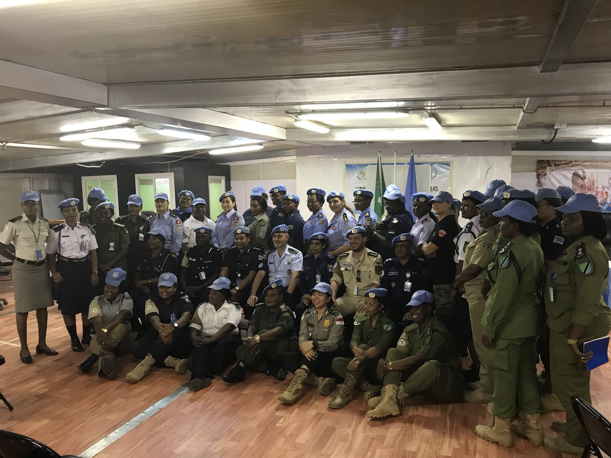#UNPOL Female Police Officers in #UNAMID are contributing for a protective environment for all in need in collaboration with Sudan Police Force & communities / Keep up the good work  and strong motivation #UN #PEACEKEEPING #OROLSI #POLICE