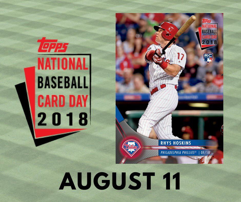 Rhys Hoskins On Twitter Celebrate Toppsbaseballcardday