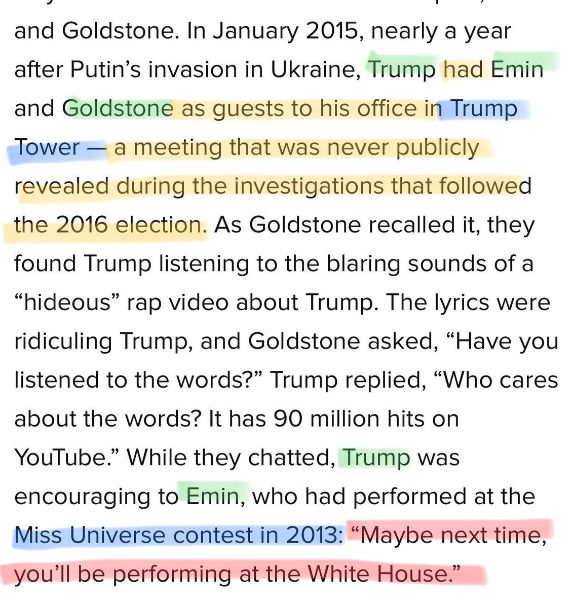 Remember that Emin Agalarov &amp; Rob Goldstone visited Trump in Trump Tower in January 2015. A few months later Goldstone extended an invitation to Trump to Aras Agalarov's Birthday party and a meeting w Putin in Moscow 11/8/2015. They were good friends of Trump <br>http://pic.twitter.com/K3v39o1sxI