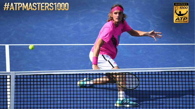 Tsitsipas does it again! The #NextGenATP 🇬🇷 saves 1 to defeat Kevin Anderson, his fourth Top 10 opponent this week, 6-7(4), 6-4, 7-6(7) and reach his first #ATPMasters1000 final at the @rogerscup. Will the 19-year-old win the 🏆 on Sunday? Photo