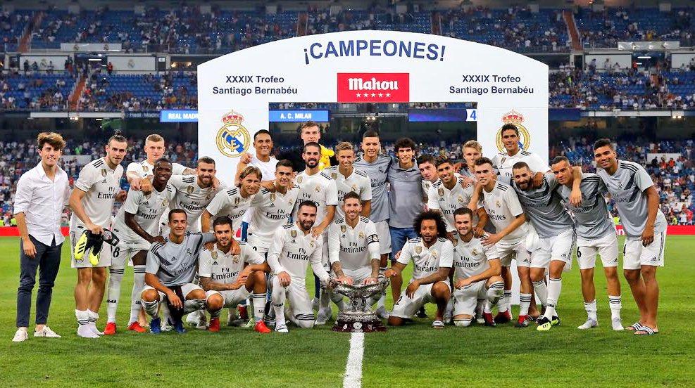 Nuestro trofeo se queda en casa. Es un placer volver a jugar con y por ustedes, madridistas. ¡Nuevo año, misma ilusión!  Our trophy stays at home. It's a pleasure to play with you and for you once again. New season, same ambition! #HalaMadrid