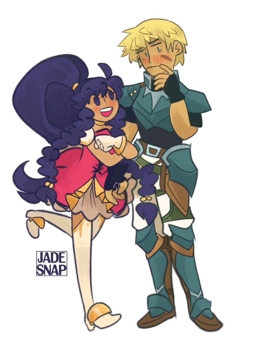 &quot;Cormag returned to Grado to assist in the reconstruction of his country. Shortly after, he left to wander on his own. Tana spent years looking for him. In time, she found him and knighted him in Frelia&#39;s service.&quot;  tana and cormag for @Crispytp91!<br>http://pic.twitter.com/YMGmTM3Rq6