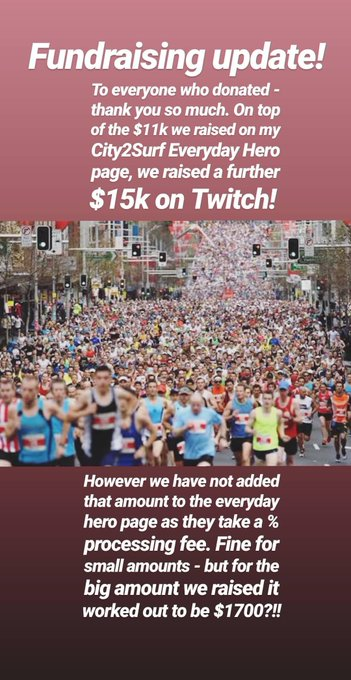 Is City2Surf day for @DementiaAus! Gonna document the run on my stories but here is a fundraising update: Photo