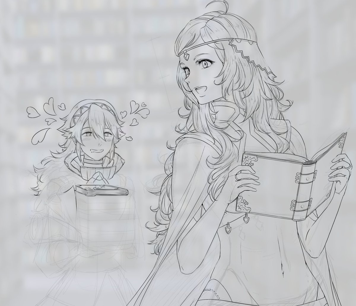 I found this wip from 2016 where I drew Ophelia and Soleil since I liked Ophelia I thought it was nice to see them together since their dads are friends and then I read their support conversation and wow I hate it So yeah sadly won&#39;t finish this (maybe if I cut out Soleil...?) <br>http://pic.twitter.com/nyGoYTjKL2