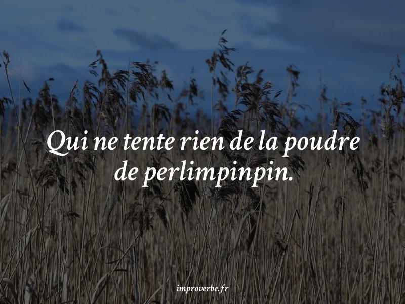 « Qui ne tente rien de la poudre de perlimpinpin. » #kamoulox généré par https://improverbe.fr #NotOurLastHunt  - FestivalFocus