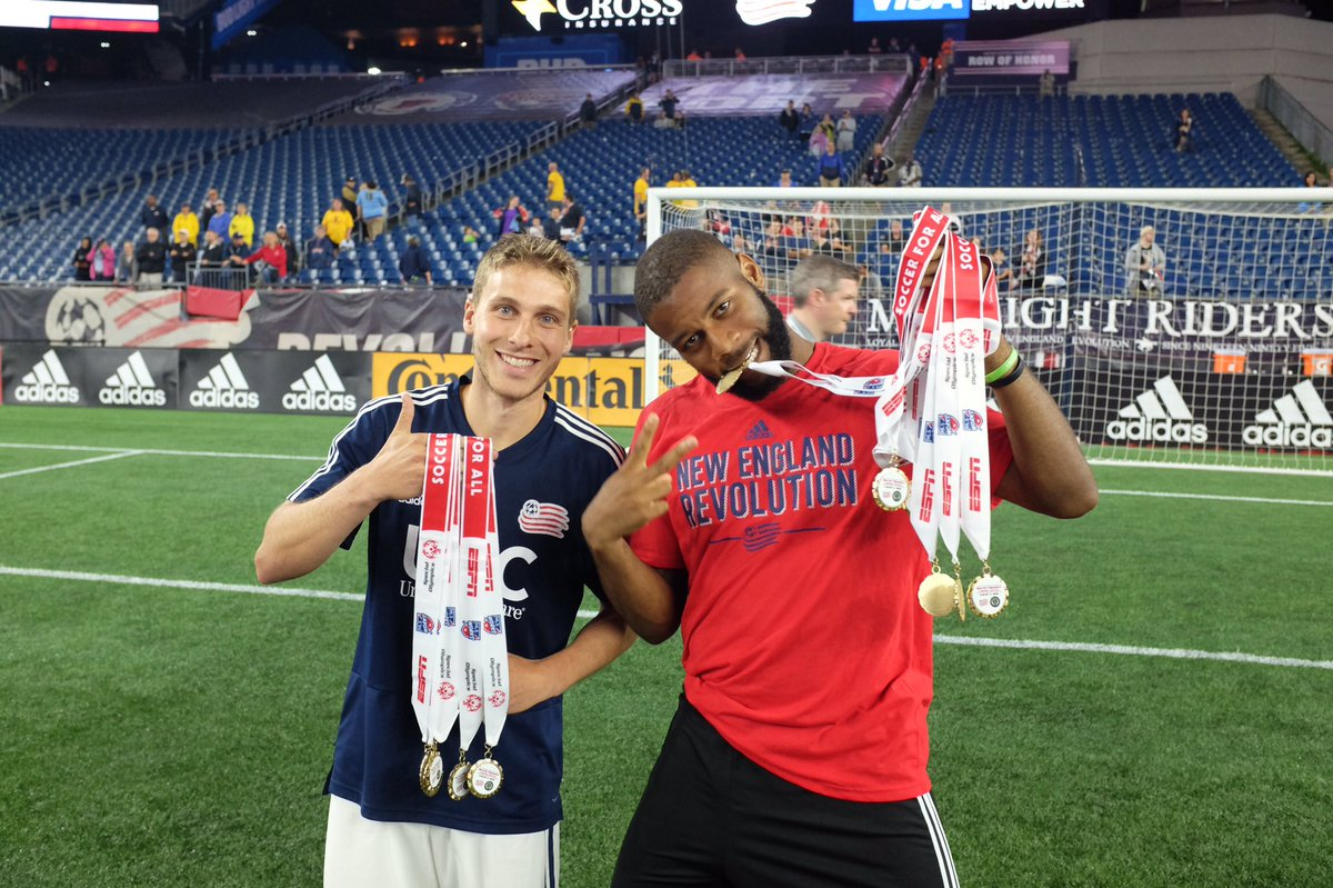 The @NERevolution and their players including @2Fast2Farrell and @scaldwell15 are amazing partners. Thank you for all you do to highlight the the athletes of @SpecialOlympics. #ChooseToInclude #PlayUnifiedMLS<br>http://pic.twitter.com/u88cZc7hJc