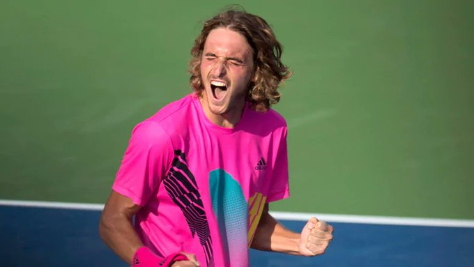 Stefanos Tsitsipas beats 4th consecutive top-10 player en route to Rogers Cup final Photo