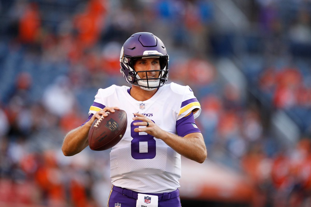 .@KirkCousins8 and the @Vikings score on their first drive of the game!   #NFLPreseason #MINvsDEN   : NFL Network (or check local listings)<br>http://pic.twitter.com/0UA1Q3i4ur