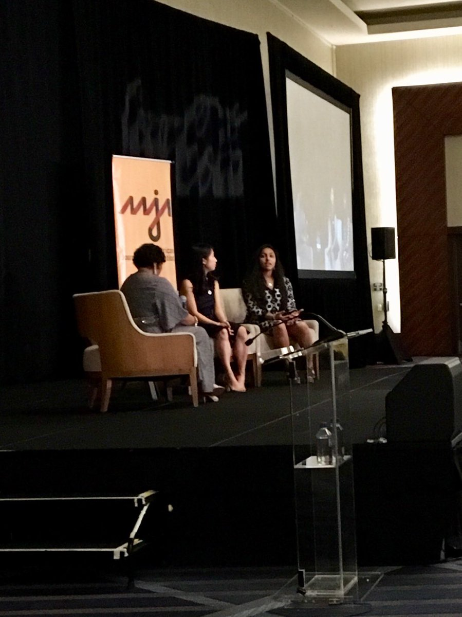 Student journalists &amp; #parkland survivors @christywma &amp; @nikta04 emphasize the importance of empathy and respect in news coverage. Ratings matter, people matter more. #AAJA18<br>http://pic.twitter.com/RiZSC42hxB