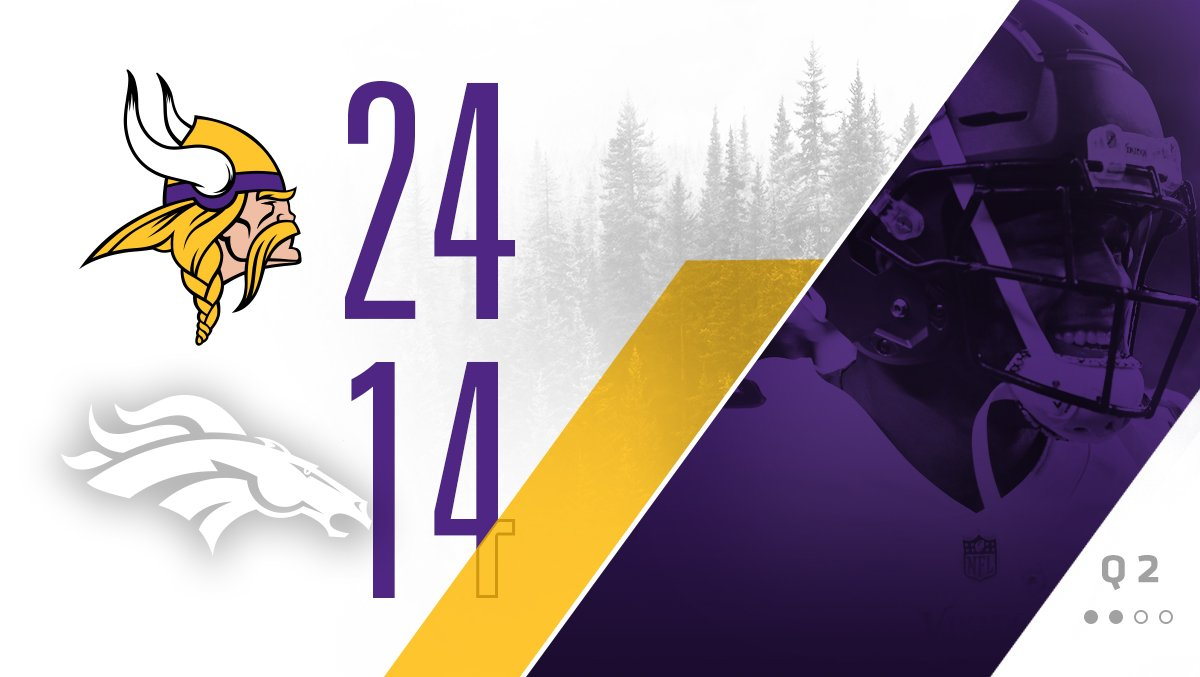 #Vikings lead 24-14 at halftime. https://t.co/uFJA2SKztZ