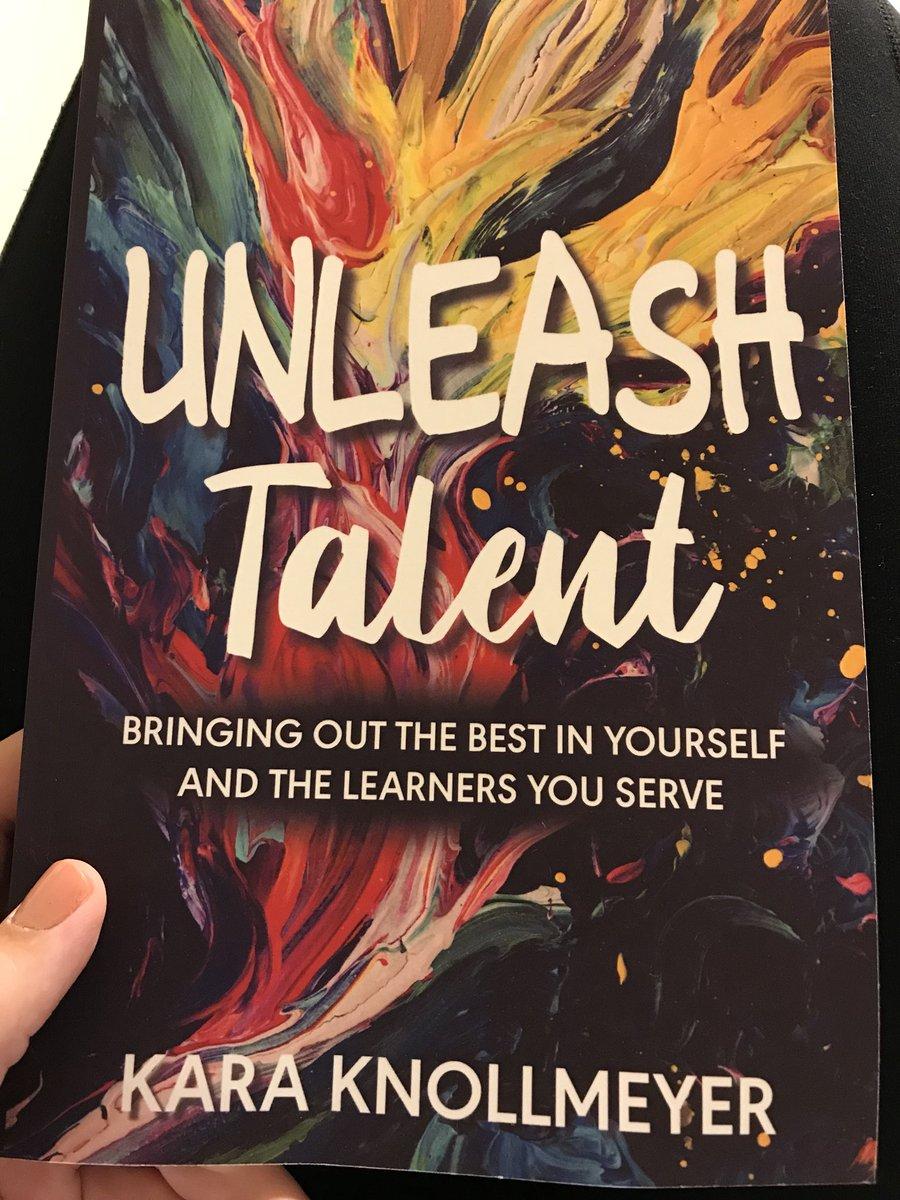 So excited to start reading @karaknollmeyer's book! #unleashtalent #inspiration #summerreading