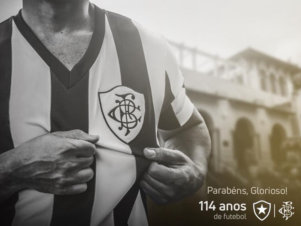 114 anos de futebol, de história e de glórias!  Parabéns, BOTAFOGO!   #Botafogo114Anos #114AnosGloriosos