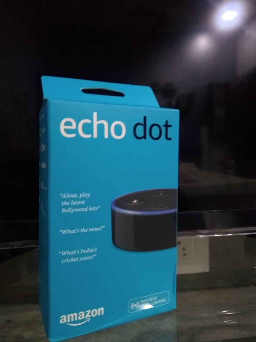 Got an Echo Dot for first 100 unique users within a month. Thanks @getstorylinecom to make this happen.   @amazonIN @amazonecho  @AmazonEchoIndia #AlexaSkills #Alexa #Alexa <br>http://pic.twitter.com/UNicXFxb3l