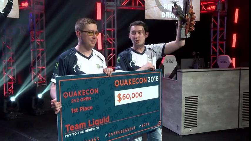 Thanks to all who tuned in and congratulations to @liquiddahang and @liquidrapha, your @QuakeCon #2v2Open champions! https://t.co/2XpNUqcvkH