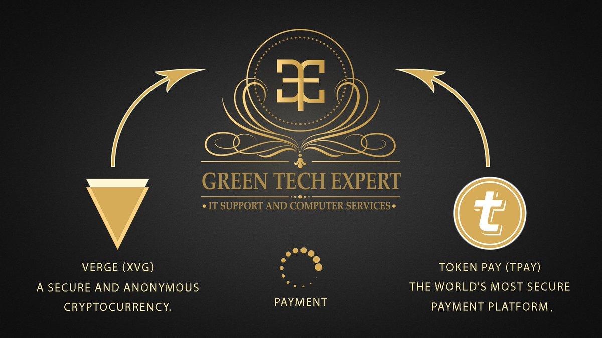 Green Tech Expert Starts Accepting Verge(XVG) and Token Pay(TPAY) for Payments .  https://www. gtexpert.tech / &nbsp;  <br>http://pic.twitter.com/MSYl7ilmdN