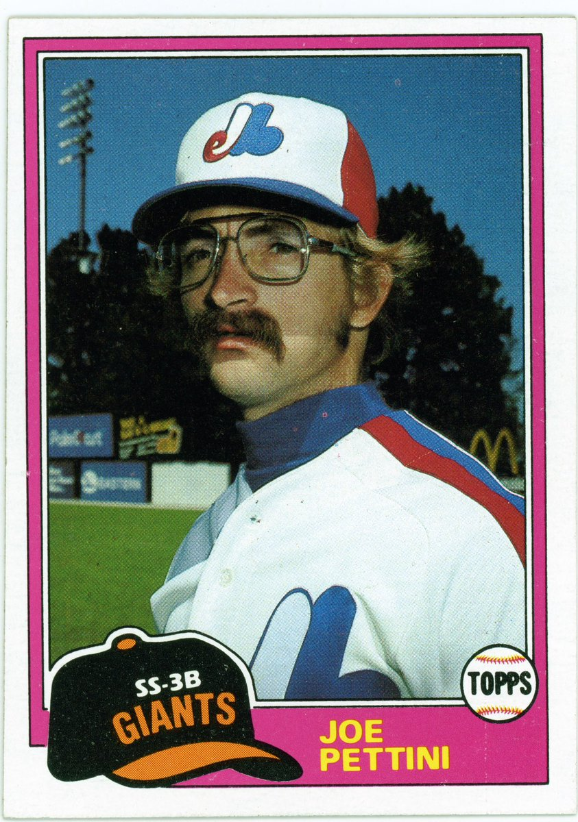 Hate to interrupt Joe Pettini's martyrdom or disturb your story https://t.co/8tLBgfItbc about his 1981 @toppscards baseball c@michaelsclaira@GemmaKanekor@Cut4d,   , but no beard was airbrushed. This was the unretouched photo on his proof card. Pettini's goofy look is all him.