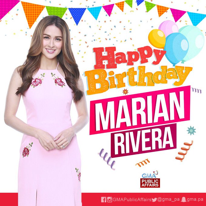 Happy Birthday sa ating Primetime Queen at host, Ms. Marian Rivera!