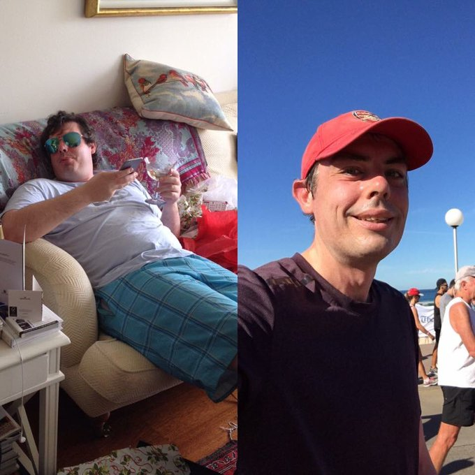 Every time I run the City2Surf I am reminded of my erstwhile form factor. That's Christmas 2015 on the left. Photo
