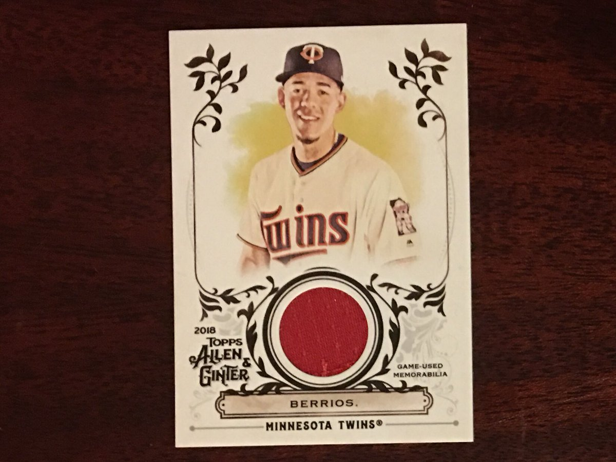 Now for the hits, first up, this Jose Berrios Relic Card. <br>http://pic.twitter.com/dtyrtQYkSW