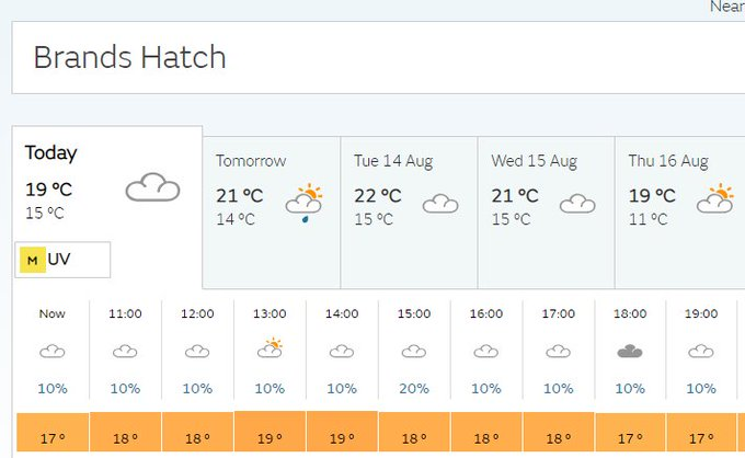 The weather is looking good for the rest of the day here now! @DTM tickets are still available on the gate #DTMBrandsHatch #WeLoveDTM Foto