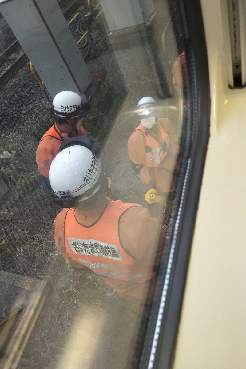 宇都宮線の土呂駅で人身事故の現場の画像