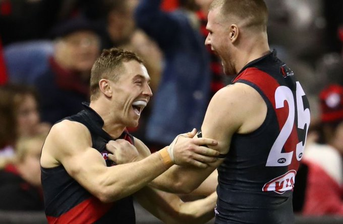 DOGS WIN! Bombers, Cats, Swans fans celebrate. Very costly loss for the Kangaroos. Dogs fantastic. Live: #AFLNorthDogs Photo