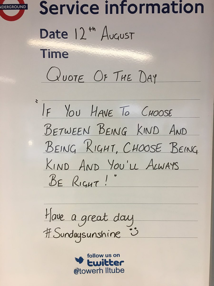 KIND is always the right choice  #bekind #SundayMotivation @visitlondon @TfL<br>http://pic.twitter.com/jUNqLv8CGF