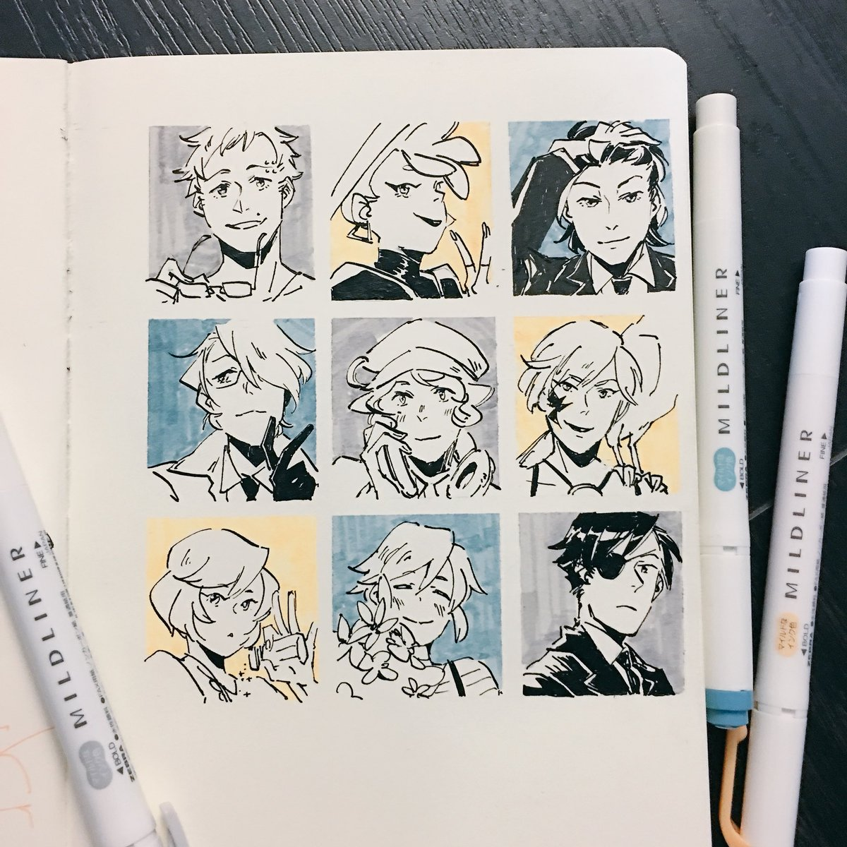 Drew that oc meme!! Thank you for letting me use ur chilluns as a practise for inking lol (inserted one of my own lol) <br>http://pic.twitter.com/7Cg6qCMeFP