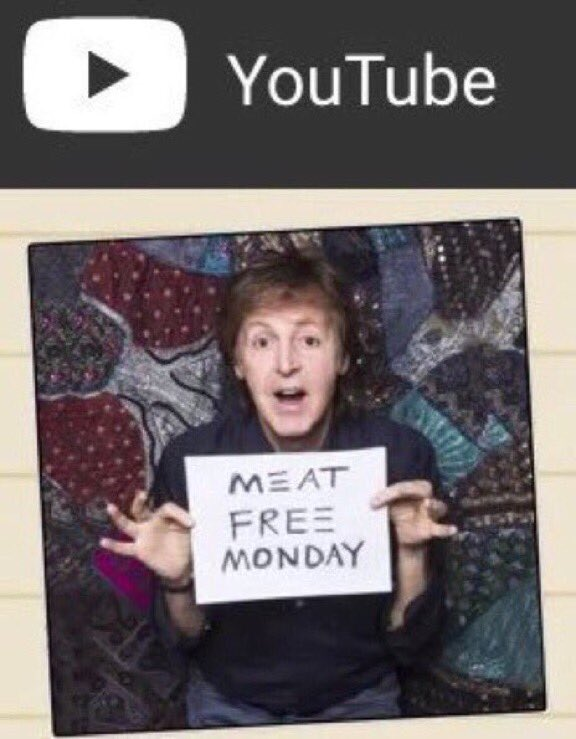RT @MeatlessMonday: The soundtrack for your #MeatlessMonday, courtesy of Sir #PaulMcCartney &amp; @MeatFreeMonday:  http:// youtu.be/_tPmyRIoUGQ  &nbsp;  <br>http://pic.twitter.com/rngwIoErrp