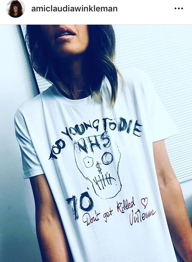 On #SundayMorning join @ClaudiaWinkle in your own @FollowWestwood #NHS70 tee! Get yours here & support nurses in need with proceeds to @CavellTrust WearYourNHS.teemill.co.uk ❤️ #WearYourNHS #NHS #NHSLove #SaturdayMorning #MondayMotivaton