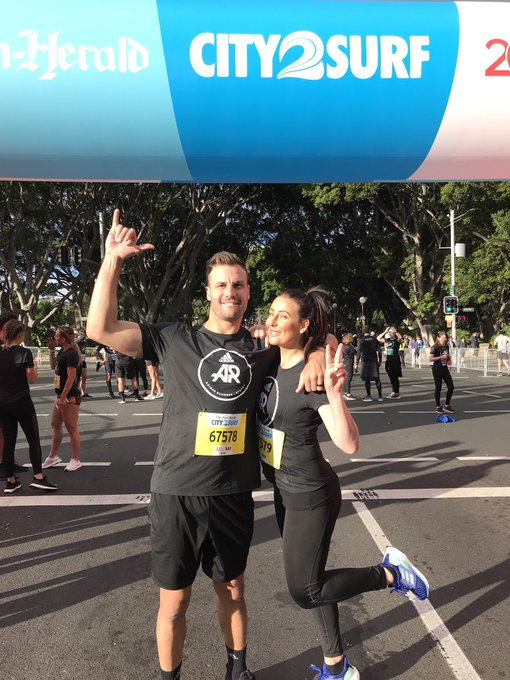 Ran the #City2Surf today for team @adidas with the wifey and loved every minute of it. Big ups to everyone involved. For those asking I didn't time my run but I think I finished it in about 45 minutes. Photo