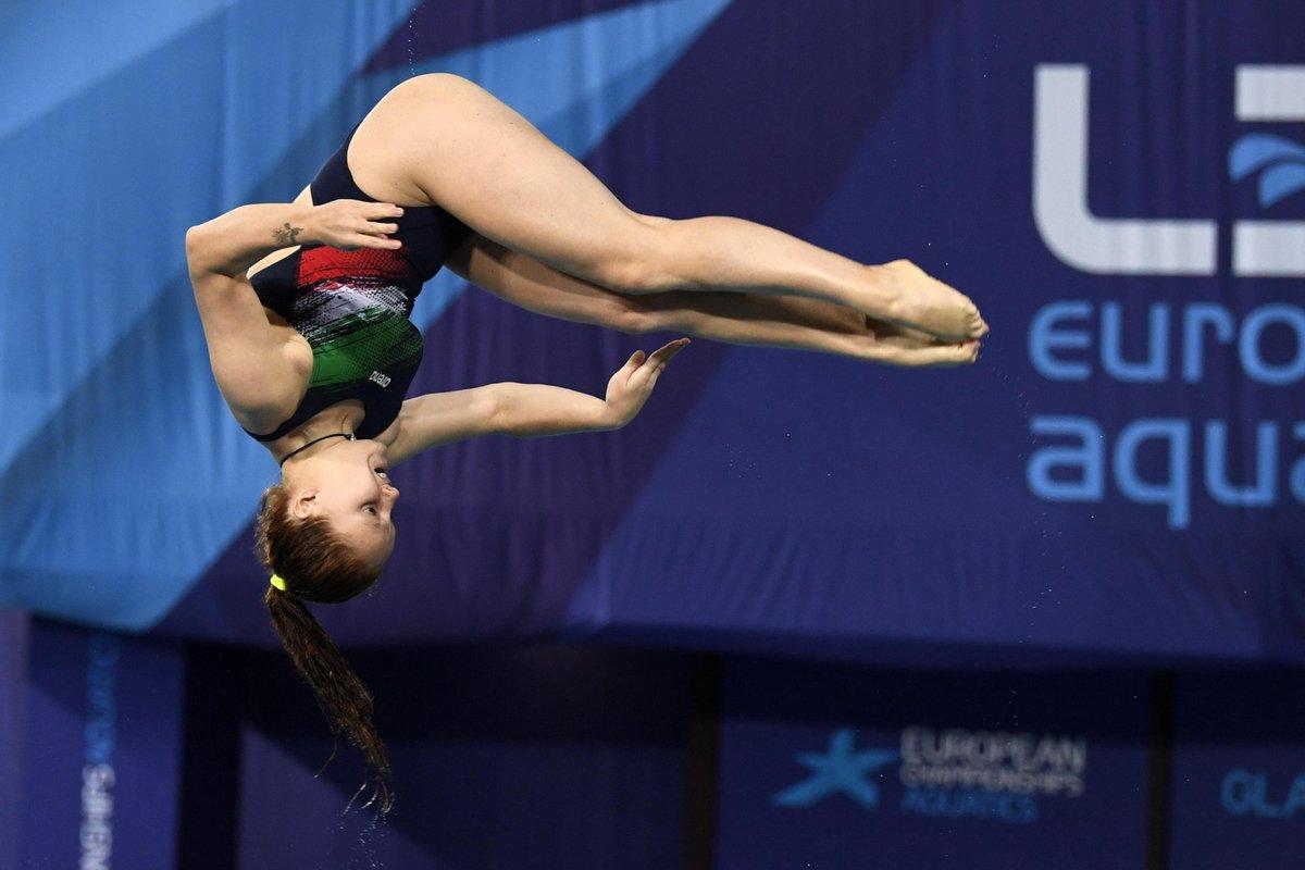 Chiara Pellacani ha 15 anni e 11 mesi e ha appena ha battuto il record di @TaniaCagnotto (prima medaglia europea a 17 anni).Occhi lucidi  #Tuffi #Glasgow2018  - Ukustom