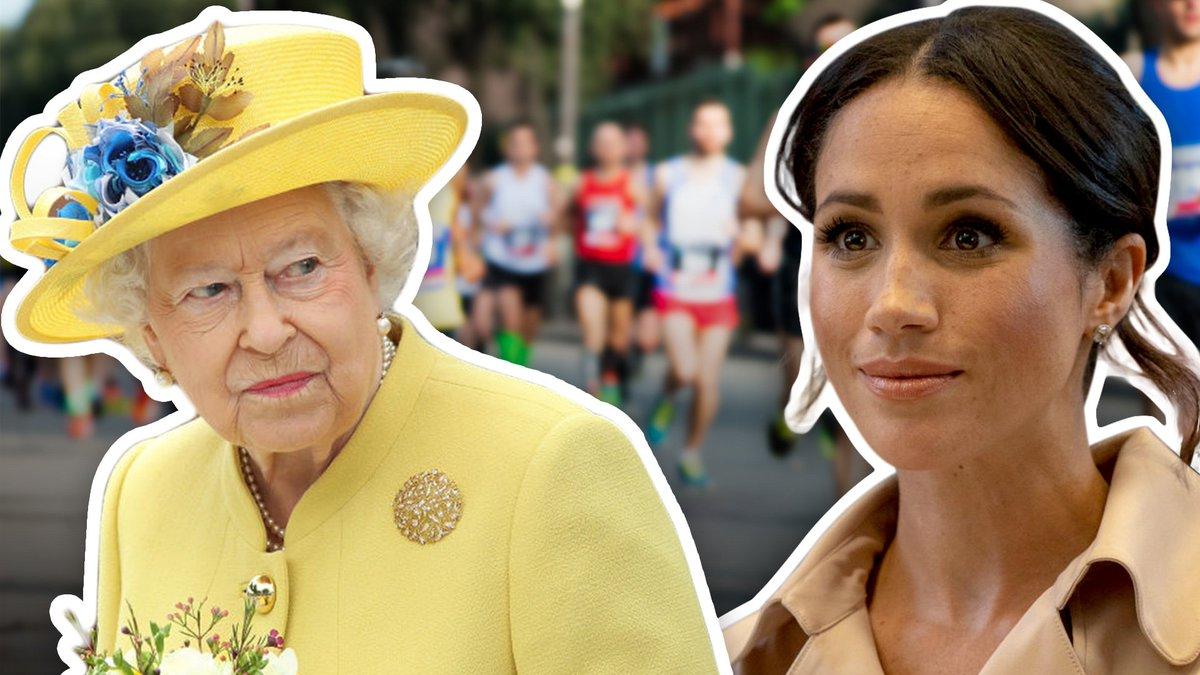 La reina de Inglaterra prohíbe a #MeghanMarkle ¿sudar en público?. 🤷🏼♀️ https://t.co/90Ngd6lL93