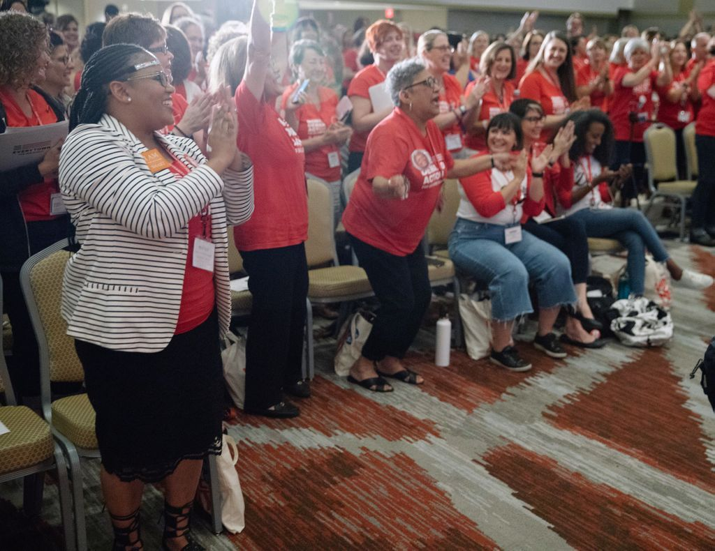 The hundreds of @momsdemand volunteers who have come together at Gun Sense University to learn about organizing in the movement to end gun violence are making one thing clear: this isn't a moment - it's a movement. #GSU18  <br>http://pic.twitter.com/s0yu2rDJ0E