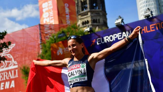 Athlétisme. Championnats d'Europe: Clémence Calvin médaillée d'argent au marathon Photo