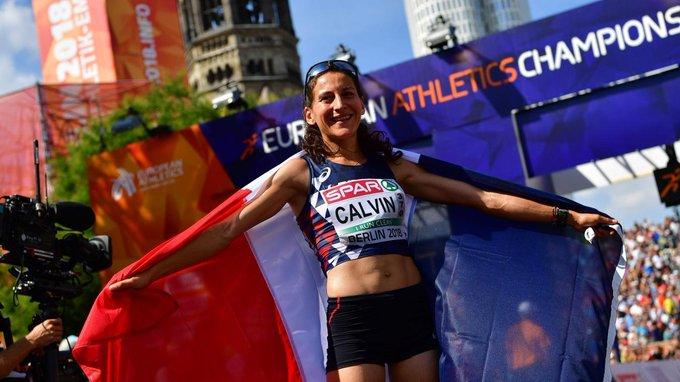 Athlétisme - La Française Clémence Calvin remporte l'argent pour son premier marathon Photo