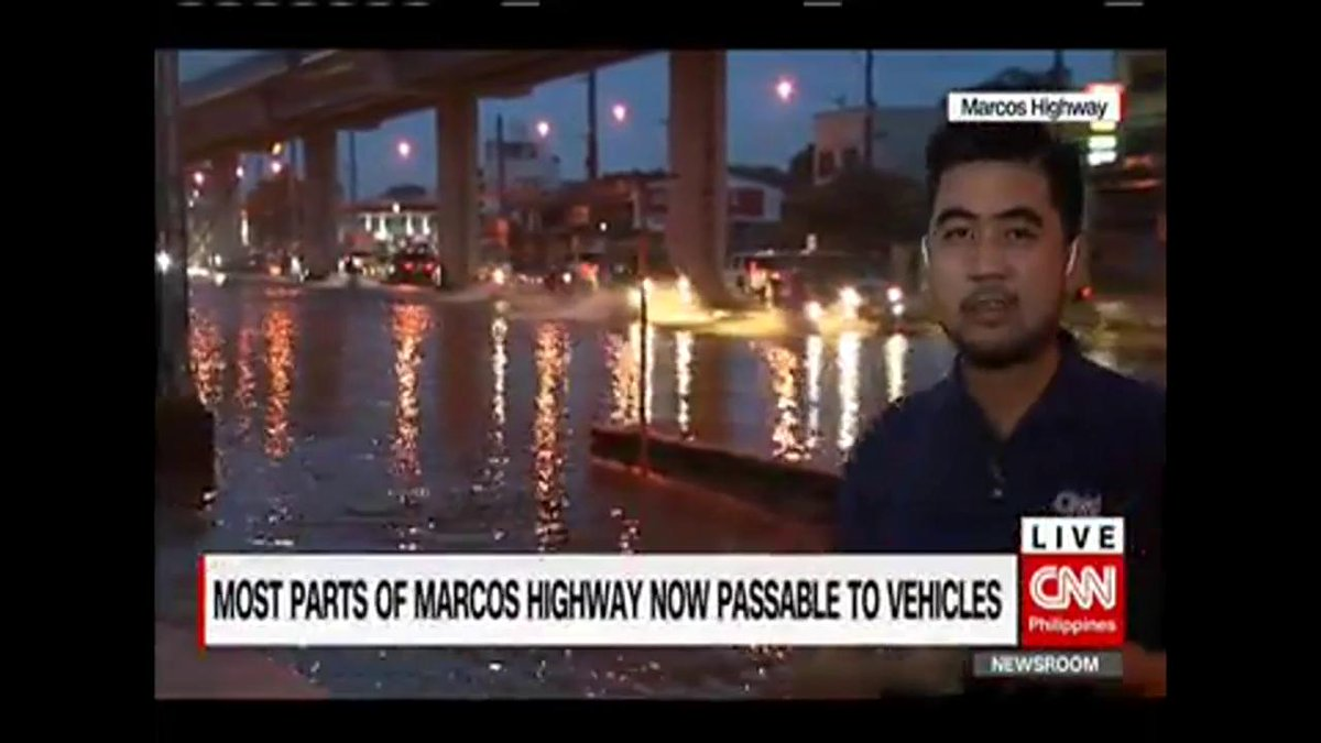 Most parts of Marcos Highway now passable to vehicles. | cnn.ph