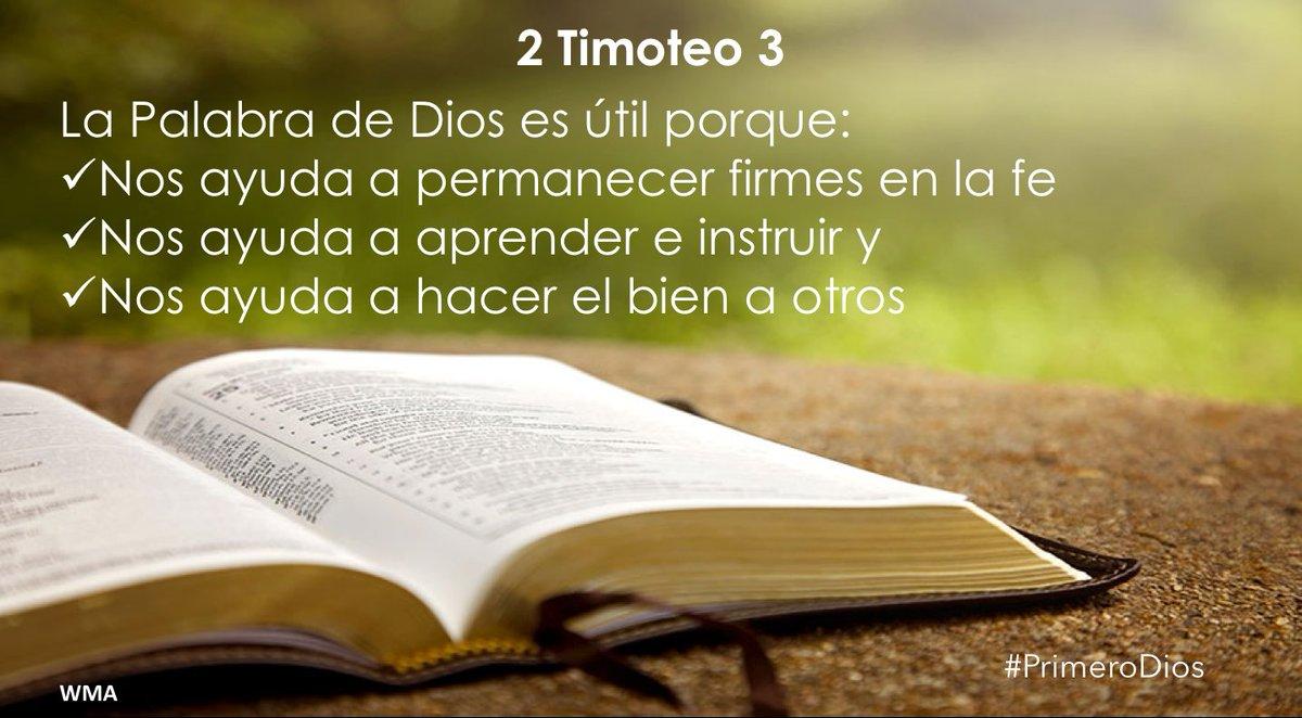 Walter Murillo Auf Twitter 2 Timoteo 3 La Palabra De Dios Es útil Porque Nos Ayuda A Permanecer Firmes En La Fe Nos Ayuda A Aprender E Instruir Y