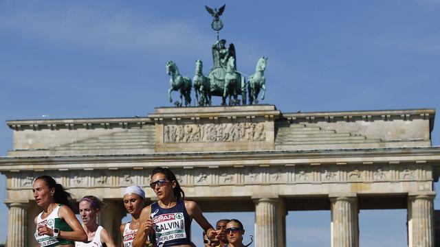 () Athlétisme. Championnats d'Europe?: #Clémence #Calvin médaillée d' Photo