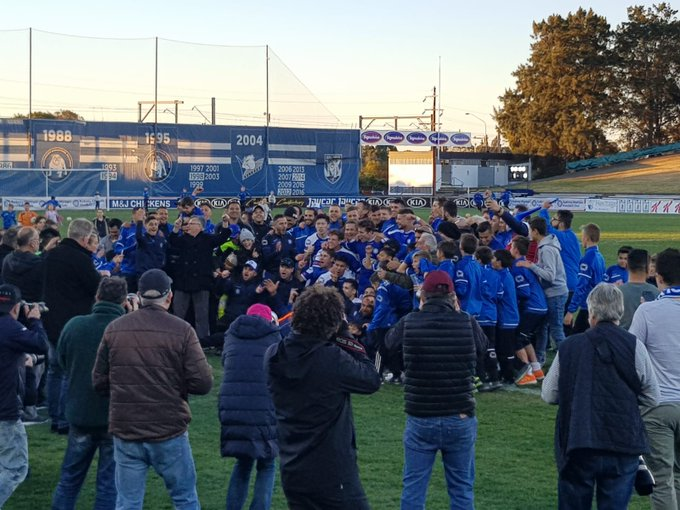 What a day! Amazing day all round for @SydneyOlympicFC to be crowned @nplnsw Champions for 2018. Bring on the Finals! #NPLNSW #CMONOLYMPIC Photo