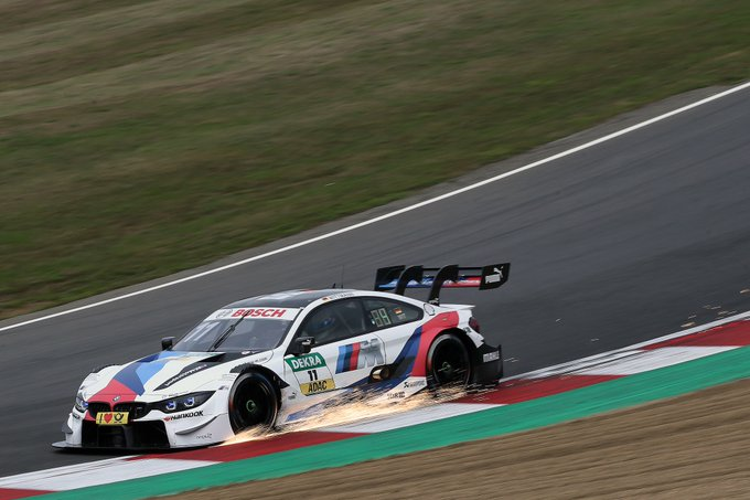 If proof were still needed: #WeKeepOnPushing. Let the sparks fly, @Wittmannracing. #DTMBrandsHatch Foto