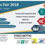 Image for the Tweet beginning: #Cwmbran JOBS FAIR Tuesday 11/09/2018