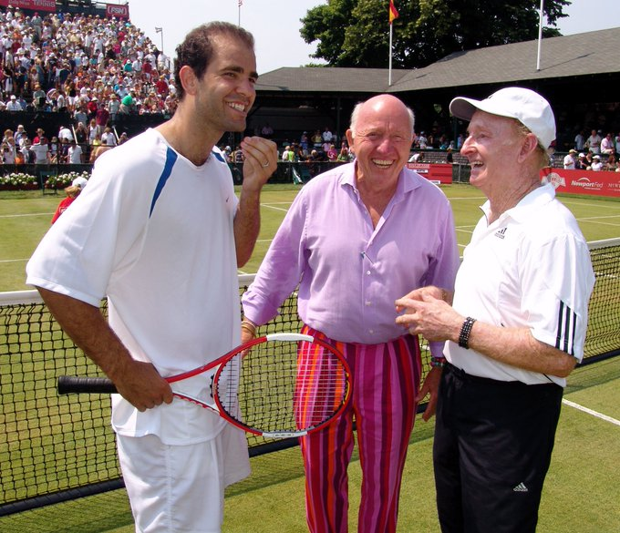 Happy birthday today to Pete Sampras (seen here with Bud Collins and Rod Laver!)