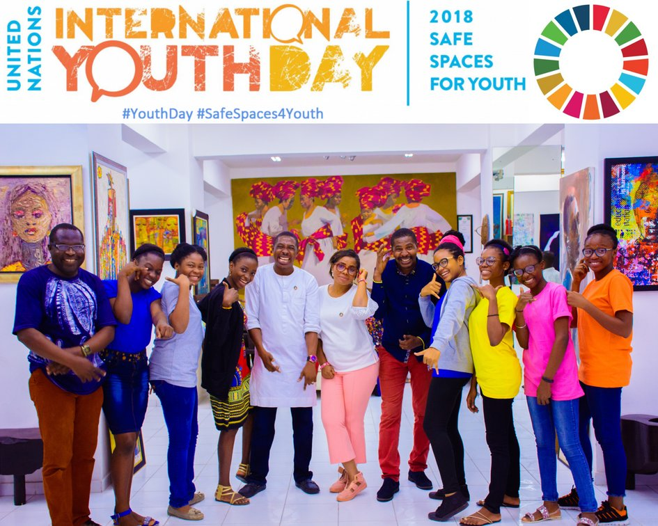 &quot;The time is always right to do what is right&quot;-Martin Luther King Jr.  We chose #ArtGallery as a safe place to creatively unravel global issues &amp; proffer solutions via youth engagement @cyiac @votc_ng @cycdi_ng   Happy #InternationalYouthDay   #GlobalPeople  #YouthDay  @UN #SDGs<br>http://pic.twitter.com/FYo4Yv2gV8