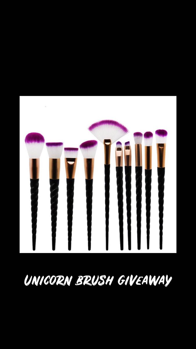 UNICORN BRUSH GIVEWAY! We decided to collaborate with @ccantek for this makeup brush giveaway!  HOW TO WIN:  follow @blackbeausg_ &amp; @ccantek  ON IG Like &amp; comment below why you deserve to win our unicorn brushes! GOODLUCK GIRLS <br>http://pic.twitter.com/mAoGRbRA9d