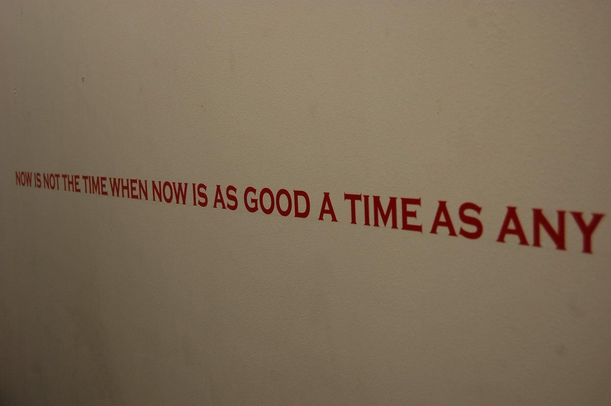 Now is not the time. From a residency at @TheArtHouseUK #textart #semantics #languageasart #concretepoetry #visualtext #textasart #visualpoetry <br>http://pic.twitter.com/vBMULFXyen