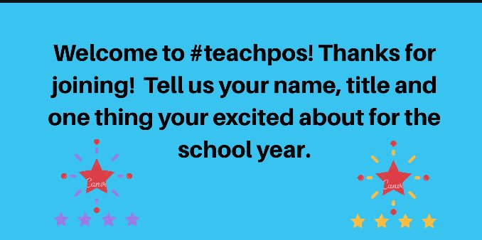 Thanks for joining us on #Teachpos It should be a great topic tonight. See the intro below.