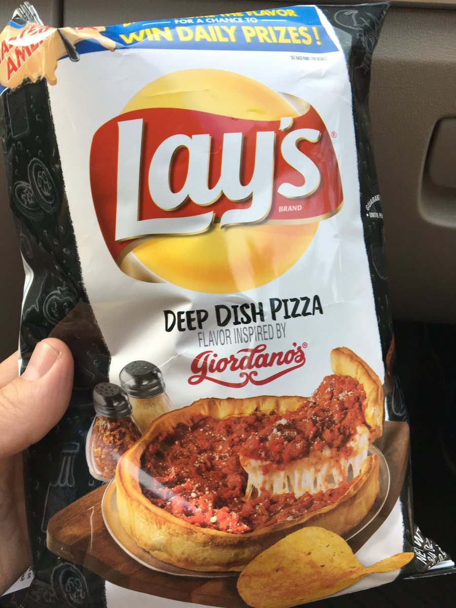 Gonna try these as my #SummerSlam2018 snack. I'd usually say fuck @GiordanosPizza but since they don't make @LouMalnatis chips here we are....