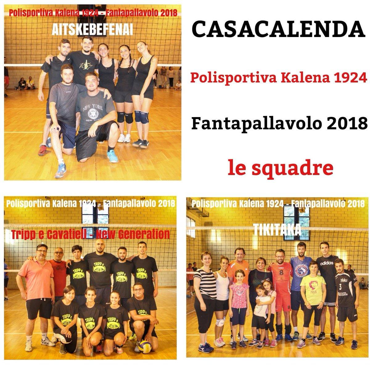 Le squadre iscritte al torneo di #FantaPallavolo2018 (17-25 agosto).#Casacalenda #Molise #sport #volley #pallavolo #fantapallavolo #estate2018  - Ukustom